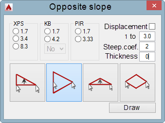 Usual opposite slope on the roof - plugin for AutoCAD